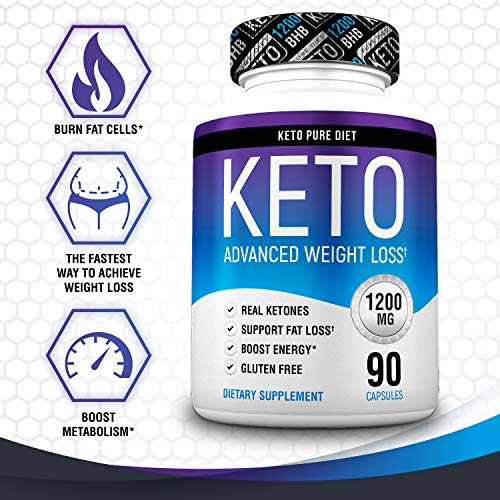 Keto Pure Diet Pills - Ketogenic Diet Supplement - Boost Energy and Metabolism - Keto Slim Supplement for Men and Women - 90 Capsules by Keto Pure Diet (Image #2)