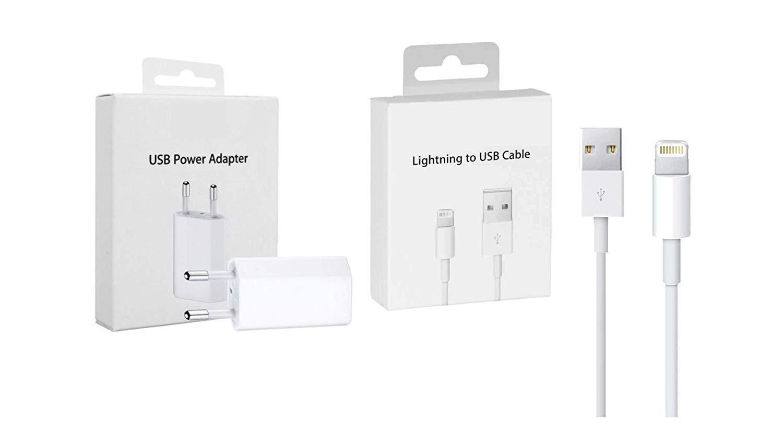 Cable de Carga para iPhone 5 6 S 7 8 X S MD818 RIGENERATI SRL Caja Original Kit de Carga MD813 Cargador Adaptador USB