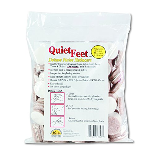 Scratch Guard Quiet Feet Deluxe Noise Reducers, 1-1/4