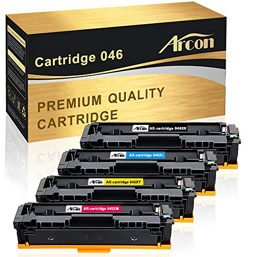 Arcon Compatible Toner Cartridge Replacement for Canon Cartridge 046 046H CRG 046 046H Canon Color ImageCLASS MF733Cdw, ImageCLASS MF731Cdw, ImageCLASS MF735Cdw LBP654Cdw MF733 MF731 Printer Ink (4PK)