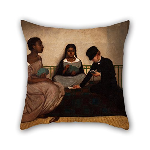 MaSoyy Oil Painting Francisco Laso - The Three Races Or Equality Before The Law Throw Pillow Covers 18 X 18 Inches / 45 By 45 Cm For Bar Seat Bf - Race Case Scorpion