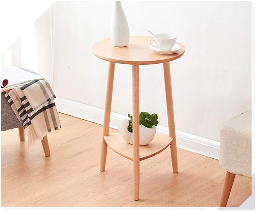 Verlaagde Prijs Coffee Table Sofa Side Plank Nachtkastje Ronde Koffietafel Balkon Corner Frame Office Eenvoudig Meubilair Koffie Tafels For Living Room 4.11 (Color : Brown) Wood color PWho9Q2