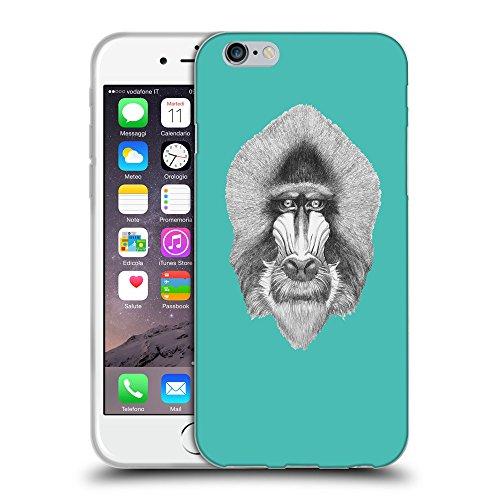 GoGoMobile Coque de Protection TPU Silicone Case pour // Q05400634 Portrait mandrill Turquoise // Apple iPhone 7