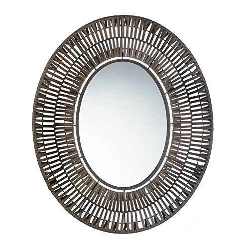 Accent Plus FAUX RATTAN OBLONG WALL MIRROR - Rattan Accent