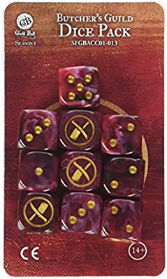 Steamforged Games Guild Ball Butchers Dice (10 Piece) by Lion Rampant Imports Ltd