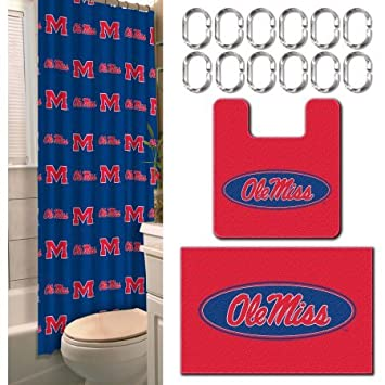 Amazon Ole Miss Rebels 15 Piece Bath Set Health Personal Care