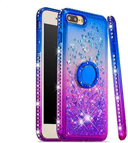 Lomogo Case for iPhone 8 Plus / 7 Plus Glitter Silicone, Shockproof Soft Rubber Bumper Case Non-Slip Back Cover Thin Fit for Apple iPhone 7Plus / 8Plus - LOYBO490040 Ring #3
