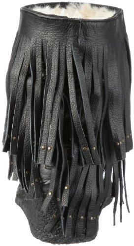 Stiefel Deluxe Koolaburra Damen Savannity Distressed 11SAVFD Schwarz Black qRxC1Bw8