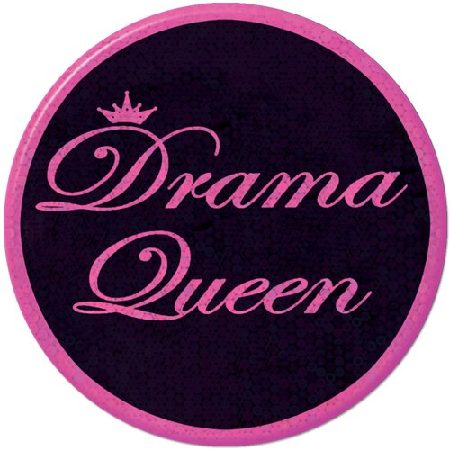 Drama Queen Button Party Accessory (1 count) (1/Pkg)