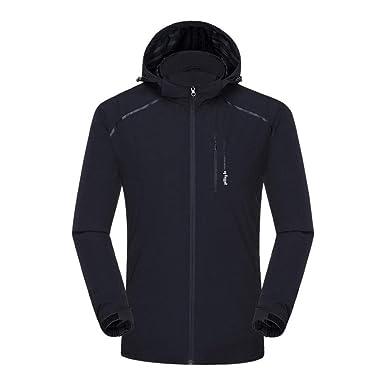 LXRYUN Jacket, Chaqueta Impermeable para HombreChaqueta ...