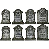 Beistle 01516 Packaged Tombstone Cutouts, Includes 4 Cutouts, 15 Inches