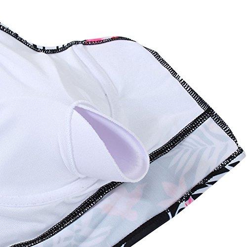 714a0b58ad496 ... FeelinGirl Bikini Tankini Bademode Badeanzug Damen Plus Size  Blumenmuster Swimsuit Retro Vintage High Waist Bikini Set ...