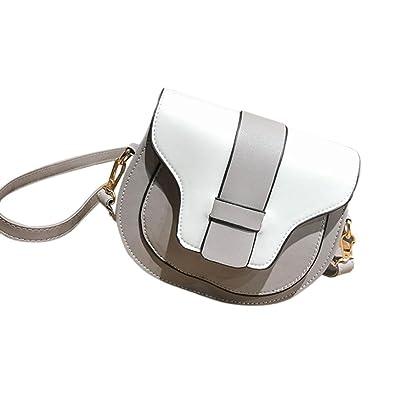 KONFA Crossbody Messenger Bags for Women,Ladies Teen Girls Semi-Circle Shaped Handbag Mini Purple Bag (Gray)