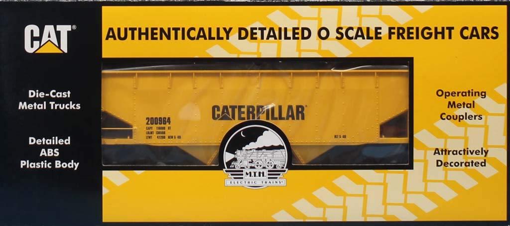 MTH 1:48 O Scale 2 Bay Offset Hopper Car Caterpillar #200964 #20-90468B
