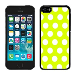 Polka Dot White and Black iPhone 5C Case Black Cover