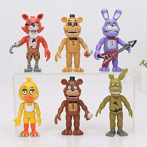 Five Nights At Freddy's World Halloween Edition (TIKIDA 6Pcs/Set Figure Sister Location Funtime Dy Bear Ballora Ennard Springtrap Action Figure U Must Have 5 Year Old Girl Gifts Girl S Favourite Superhero Mini)