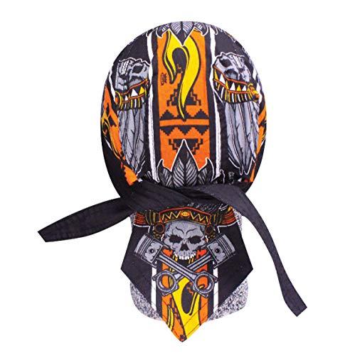 Biker Bandana Deluxe Danbanna Doo Rag Headwrap Sweatband Skull Cap - Choose Design (Biker Nation) (Deluxe Skull Cap)