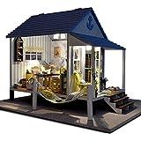 Rylai Wooden Handmade Dollhouse Miniature DIY Kit -Happy Coast Series Beach House & Furniture Dollhouses 2015 X'mas Gift( 1:24 Scale Dollhouse)