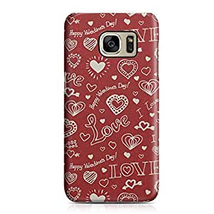 Samsung S7 Case Cute Heart Pattern For Valentines Day And Loved Ones, Great For Girls Sleek Finish Clear Edge Samsung S7 Cover Wrap Around 17