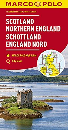 MARCO POLO Karte Großbritannien Schottland, England Nord 1:300 000 (MARCO POLO Karten 1:300.000)