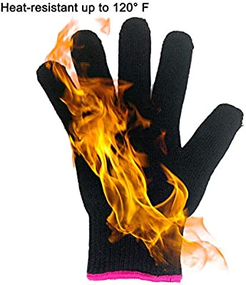1 Pair Curling Tong Heat Resistant Finger Gloves Skid Resistance Burn-proof SZ