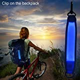 Higo Led Marker Band- Reflective Running Gear Clip-On PVC Flashing Safety Lights, Glow in the Dark Camping Gear (blue)