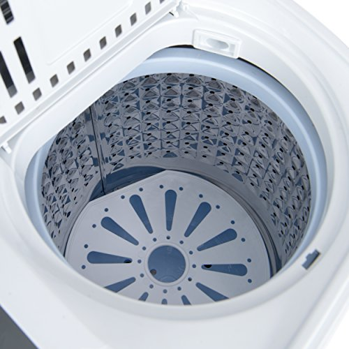 Do mini Portable Compact Twin Tub 13Ibs Capacity Washing Machine and Washer Spin Dryer