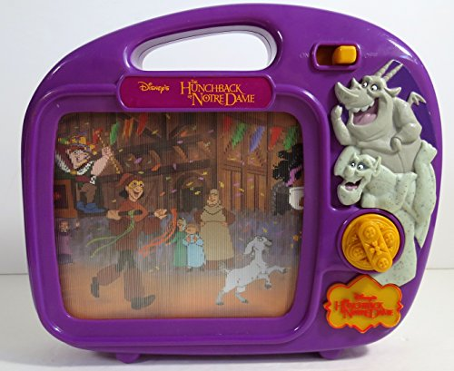 Disney WIND-UP SCROLLING MUSICAL 3-D TV The HUNCHBACK of NOTREDAME STORYBOOK MUSIC BOX - Rare
