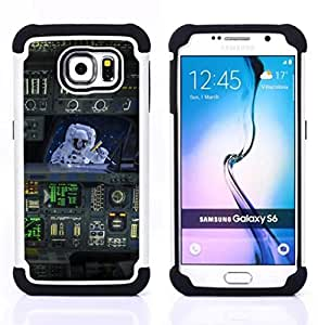 - space suit ship travel machine flight art/ H??brido 3in1 Deluxe Impreso duro Soft Alto Impacto caja de la armadura Defender - SHIMIN CAO - For Samsung Galaxy S6 G9200