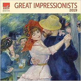 Boston Calendar January 2019 Great Impressionists MFA, Boston Wall Calendar 2019 Monthly