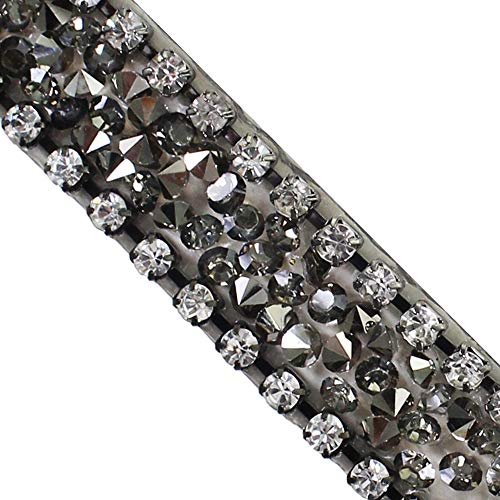 Strass - Cinta de diamantes de imitación para pegar con plancha o planchar, 4,5 m
