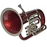 EUPHONIUM 3 VALVE Bb PITCH RED + NICKEL WITH BAG AND MP
