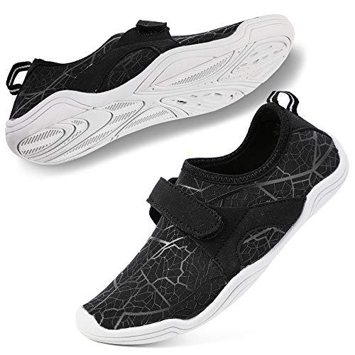 hiitave Boys & Girls Water Shoes Lightweight Comfort Sole Easy Walking Athletic Slip on Aqua Sock(Toddler/Little Kid/Big Kid)