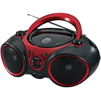 Jensen Portable Cd Player & Digital Tuner AM/FM Radio Mega Bass Reflex Stereo Sound System Plus 6ft Aux Cable to Connect Any Ipod, Iphone or Mp3 Digital Audio Player