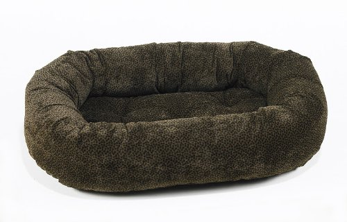 Bowsers Donut Dog Bed, Microvelvet Chocolate Bones, X-Large 50″ For Sale