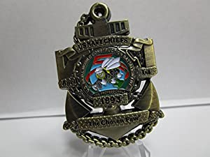 United States Naval Mobile Construction Battalion Five Seabees Serialized # CPO USN Challenge Coin from OWT/LIFENG