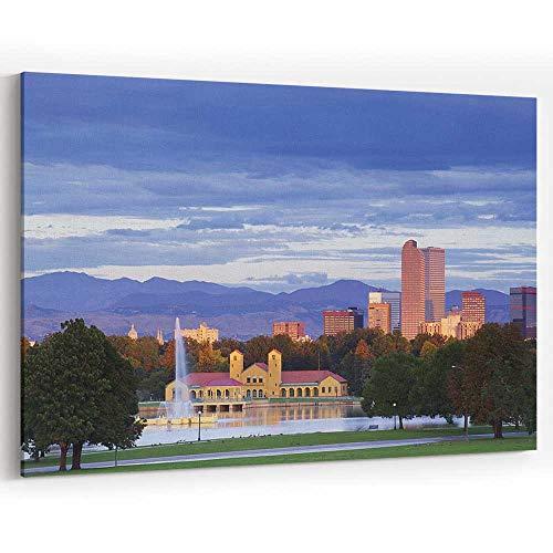 Actorstion Denver Colorado City Park and Skyline at Sunrise Canvas Art Wall Dcor,Wall Art Canvas