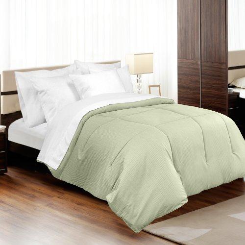made in the usa 310tc 100 cotton medici dobby stripe down alternative comforter full queen. Black Bedroom Furniture Sets. Home Design Ideas