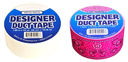 Duct Tape 2-Pack Pink Banadana/Arctic White Henkel Duct Tape