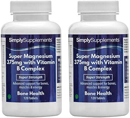Super Magnesium 375Mg with Vitamin B Complex Bundle Deal 240 Tablets in Total