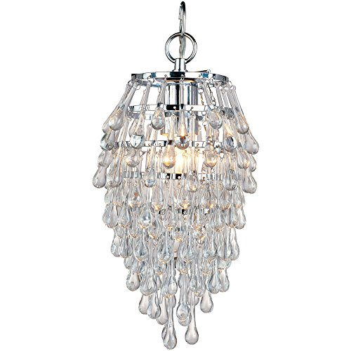 AF Lighting 4950-1H Crystal Teardrop Mini Chandelier