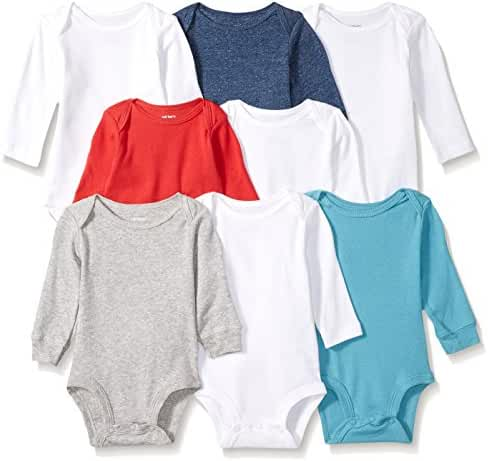 Carter's Baby Boys' 8-Pack Long-Sleeve Bodysuits