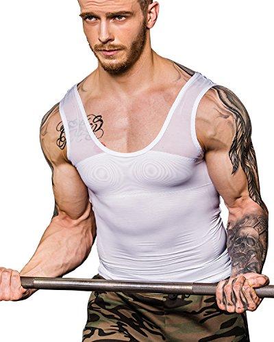 Shaxea Extreme Gynecomastia Compression Shirt to Hide Man Boobs Moobs Slimming Mens -