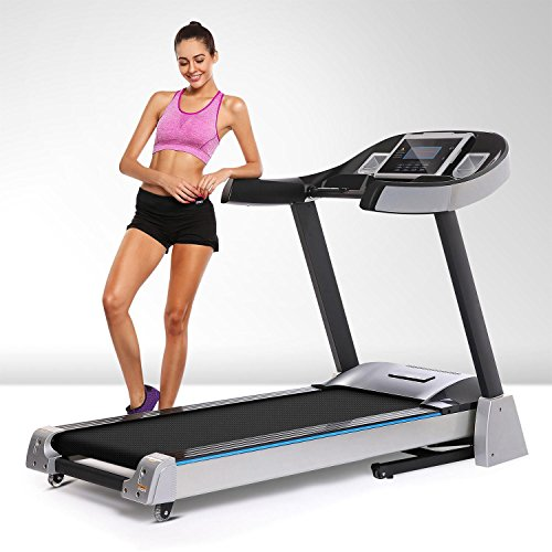 Hindom Folding Electric Treadmill Electric Motorized Power Health & Fitness App Control Running Machine 3 Types Black 1(US Stock)