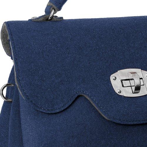 CASPAR Fashion - Bolso de asas para mujer azul - azul oscuro