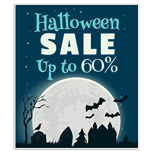 (Halloween Sale Business Window Display Retail Large Format)