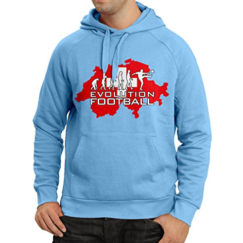 fan products of N4477H Hoodie Evolution Football - Switzerland (Small Blue Multicolor)