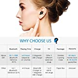 Mpow Single Wireless Earbud, V4.1 Mini Bluetooth Earbud, 6-Hr Playing Time Car Bluetooth Headset Invisible Headphone with Mic, Cell Phone Bluetooth Earpiece for iPhone Samsung Android (Two Charger)