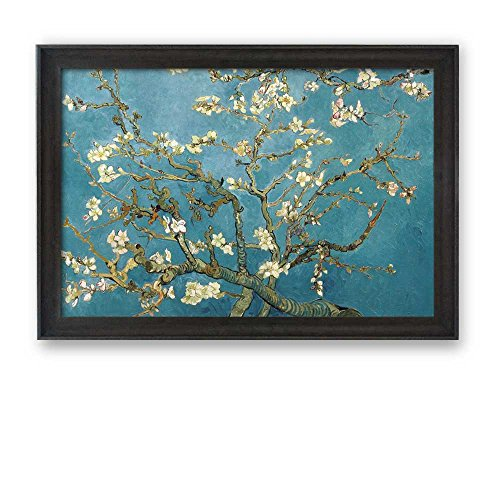 Framed Art Almond Blossoms by Vincent Van Gogh Interpretation in Original Reproduction Famous Painting Wall Decor