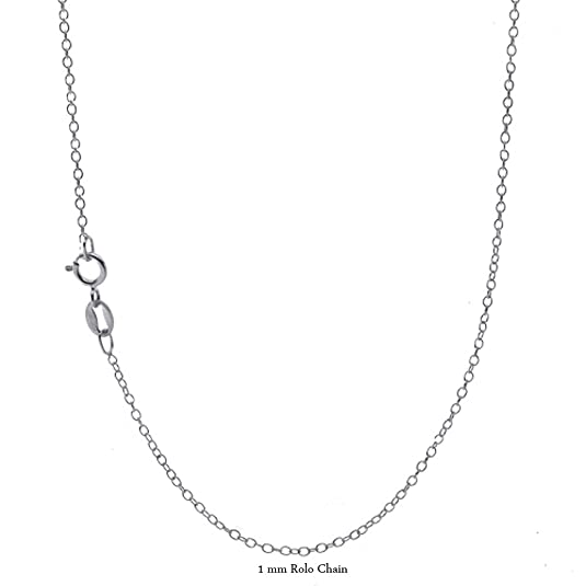 Amazon Com Amazing 1mm Solid Silver Rolo Chain Made In Italy 18